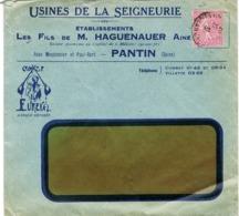 ENVELOPPE  A EN-TETE USINES DE LA SEIGNEURIE PANTIN - Marcophilie (Lettres)