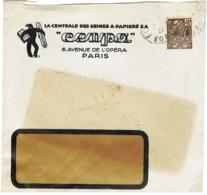 ENVELOPPE  A EN-TETE ILLUSTREE CENTRALES DES USINES A PAPIERS PARIS - Marcophilie (Lettres)