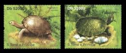 Sao Tome Turtles Fauna Turtle 2v Set Michel:4840-4841 - Celebridades