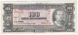Bolivie - Billet De 100 Bolivianos - 20 Décembre 1945 - Villaroel - Bolivia