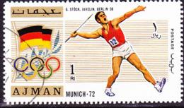 Ajman - Olympiade Berlin G. Stöck Speerwurf (MiNr. 2113) 1971 - Gest Used Obl - Ajman