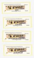 4 Vignette Lisa UZES MARCOPHILEX 2014 MNH Atm Frama Cinderella Label EC LV LP IP PONT GARD BRIDGE BRUCKE - 2010-... Abgebildete Automatenmarke
