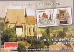 2012 - ROMANIAN Small Calendar Romfilatelia-stamp Issue -THE FORTIFIED CHURCH From BIERTAN  ( 10 X 7 Cm) -2 Scans - Calendriers