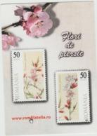 2012 - ROMANIAN Small Calendar Romfilatelia-stamp Issue -PEACH BLOSSOM ( 10 X 7 Cm) -2 Scans - Calendriers