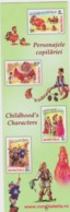 2017 - ROMANIAN Small Calendar Romfilatelia-stamp Issue -Childhood's Characters-Tales( 6x 19 Cm) -2 Scans - Calendriers