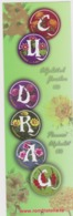 2017 - ROMANIAN Small Calendar Romfilatelia-stamp Issue -Flowers Alphabet ( 6x 19 Cm) -2 Scans - Calendriers