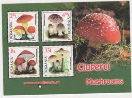 2018 - ROMANIAN Small Calendar Romfilatelia-stamp Issue -  Mushrooms( 10 X 7cm) -2 Scans - Calendriers