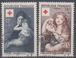 +France 1954. Croix-Rouge. Yvert 1006-07. Oblitéré - France