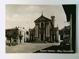 Veniano Inferiore, Chiesa Parrocchiale, Autos, AK, Gelaufen 1964 - Italien