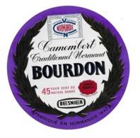 ETIQUETTE De FROMAGE..CAMEMBERT Fabriqué En NORMANDIE (Calvados 14)..BOURDON...BESNIER - Fromage