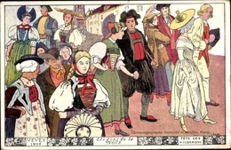 Artiste Cp Vevey Kt. Waadt Schweiz, Fete Des Vignerons 1905 - Auguri - Feste