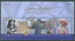 NEW ZEALAND - MNH/**- 2000 - QUEEN MOTHER ELIZABETH - Yv 141 -  Lot 20652 - Blocs-feuillets