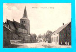 CPA RAEVELS / RAVELS : Dorpzicht, Le Village ( Mourcourt, église ) Circulée En 1919 Uitg. Reymans - 2 Scans - Ravels