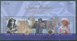 NEW ZEALAND - USED/OBLIT.- 2000 - QUEEN MOTHER ELIZABETH - Yv 141 -  Lot 20653 - Blocs-feuillets