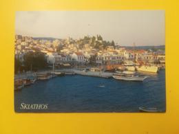 CARTOLINA POSTCARD GRECIA GREECE 1996 SKIATHOS PORTO BOLLO APOLLO MITOLOGIA CASTELLI - Grecia