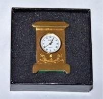 RARE MAGNIFIQUE HORLOGE PENDULETTE MINIATURE  À Quartz MATY 80s NEUVE EN BOITE - Horloge: Luxe