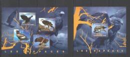 CA406 2014 CENTRAL AFRICA CENTRAFRICAINE FAUNA BIRDS RAPTORS OF AFRICA RAPACES KB+BL MNH - Adler & Greifvögel