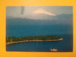 CARTOLINA POSTCARD GIAPPONE NIPPON 1972 MONTE FUJI SURUGA PREFECTURE SHIZUOKA  BOLLO CLADOPHORA SAUTERI AIR MAIL - Giappone