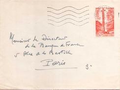 ANDORRE ENVELOPPE DU 2 AOUT 1955 DE ANDORRE LA VIEILLE POUR PARIS - Lettres & Documents