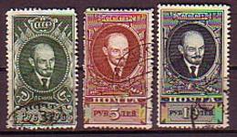 RUSSIA & USSR - 1939 - Lenin - 3,5,10 Rb Obl. Mi No 687-89 - 1923-1991 USSR