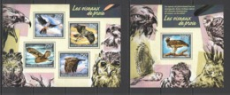 CA420 2014 CENTRAL AFRICA CENTRAFRICAINE FAUNA BIRDS OF PREY OUSEAUX DE PROIE KB+BL MNH - Adler & Greifvögel