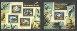 CA421 2014 CENTRAL AFRICA CENTRAFRICAINE FAUNA BIRDS WATER BIRDS OISEAUX DE MER  KB+BL MNH - Albatrosse & Sturmvögel