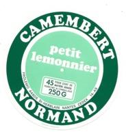 ETIQUETTE De FROMAGE..CAMEMBERT NORMAND ( Calvados 14)..Petit Lemonnier.. FROLEMO à SAINT HERBLAIN (44) - Formaggio