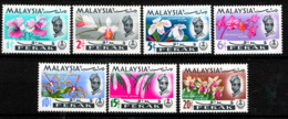 PERAK & PERLIS 1965  ORCHIDS  SET  MNH - Perak
