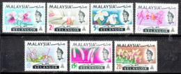 SABAH 1965  ORCHIDS  SET  MNH - Selangor