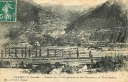 73 - CHAMOUX - PONTURIN - VUES GENERALES DE CHAMOUX ET MONTENDRY - CACHET FACTEUR - D - Chamoux Sur Gelon