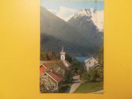 CARTOLINA POSTCARD NORVEGIA NORGE 1972 TJUGUM BALESTRAND BOLLO NORWEGIAN SAVINGS BANKS OBLITERE' BERGEN - Norvegia