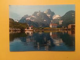 CARTOLINA POSTCARD NORVEGIA NORGE 1976 LAUKSUND VED RAFTSUNDET BOLLO NATALE CHRISTMAS OBLITERE' TRONDHEIM - Norvegia