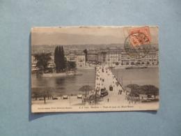GENEVE  -  Pont Et Quai Du Mont Blanc  -  SUISSE - GE Geneva