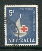 AUSTRALIE- Y&T N°287- Oblitéré (croix Rouge) - 1952-65 Elizabeth II : Ed. Pré-décimales