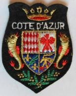 écusson Brodé Ancien Côte D'Azur Armoiries Blason - Ecussons Tissu