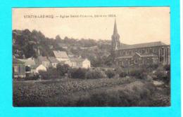 CPA STATTE-LEZ-HUY : Eglise Saint-Etienne, Bâtie En 1864 - Circulée 1922 - Ed. J. Thiry, Statte - 2 Scans - Huy