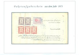 PERSIA - IRAN 1973; Certificate Of A Parcel Post Delivery Permit - Irán