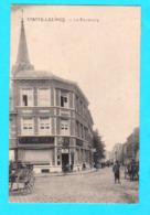 CPA STATTE-LEZ-HUY : Le Faubourg - Animée - Circulée 1922 - Ed. J. Thiry, Statte - 2 Scans - Hoei
