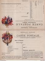 Carte Postale Franchise Militaire Correspondance Militaire 6 Drapeaux Japon Russie Belgique - Oorlog 1914-18