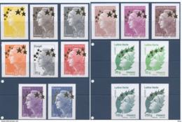 Serie Maxi Marianne Aux Etoiles D'or 4662 A Et Suivants ** MNH - France