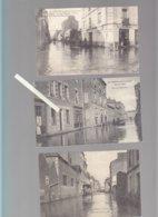 Nantes / Lot De 3 CP / La Rue Des Olivettes Pendant Les Inondations De 1904, Cycles Clément - Nantes