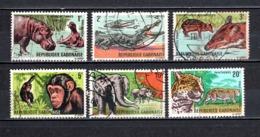 GABON  N° 202 à 207   OBLITERES  COTE 2.00€   ANIMAUX - Gabon (1960-...)