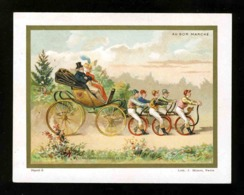 Chromo Au Bon Marché. Un Départ Pour Les Courses En 1819 (117263) - Au Bon Marché