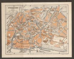 CARTE PLAN 1952 - STRASBOURG CASERNES MANUFACTURE De TABACS ESPLANADE ORANGERIE - Topographische Karten