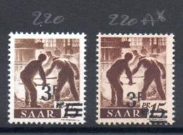 SARRE - YT N° 220A - Neuf * - MH - Cote: 480,00 € - Ongebruikt