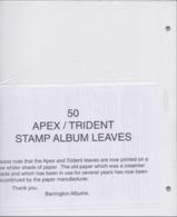 Lot De 26 Pochettes Neuves De 50 Feuilles D'Albums Pour Rangement Timbres Philatélie Stamp Leaves Trident Album Leaf - Albums & Reliures