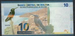 BOLIVIA P248 10 BOLIVIANOS 2018 UNC. - Bolivië