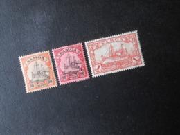 D.R.12/ 15/ 16*MLH - Deutsche Kolonien (Samoa)  1900   Mi 8,80 € - Kolonie: Samoa