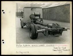 Original Photograph - 3.5 Ton Albion Winch Lorry Chassis -  (U.K.) - 1937 (20 X 15.5cm) - Autres