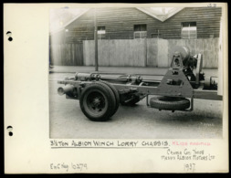 Original Photograph - 3.5 Ton Albion Winch Lorry Chassis -  (U.K.) - 1937 (20 X 15.5cm) - Foto